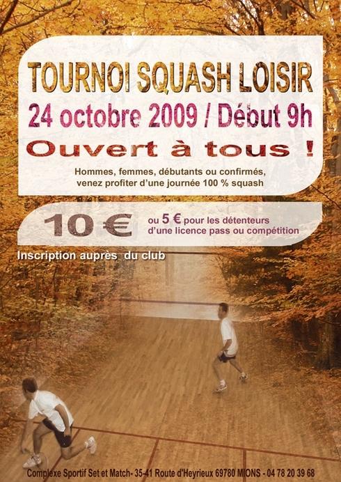Tournoi sqhash set et match