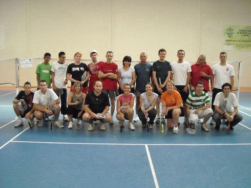 Margaret et Eric Vainqueurs du Tournoi de Badminton set et match.