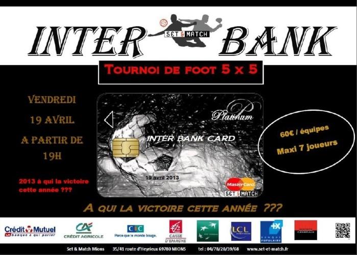 4ème édition du tournoi inter-bank chez Set & Match le 19 avril 2013