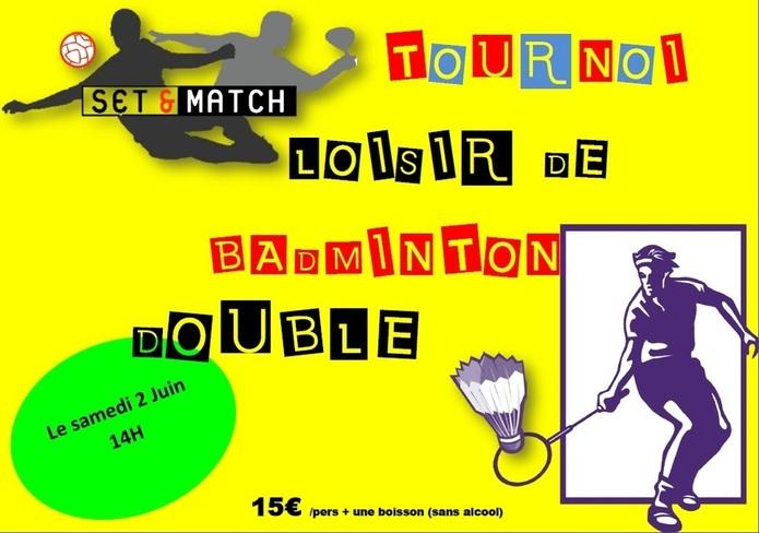 Tournoi de badminton des beaux jours!!!