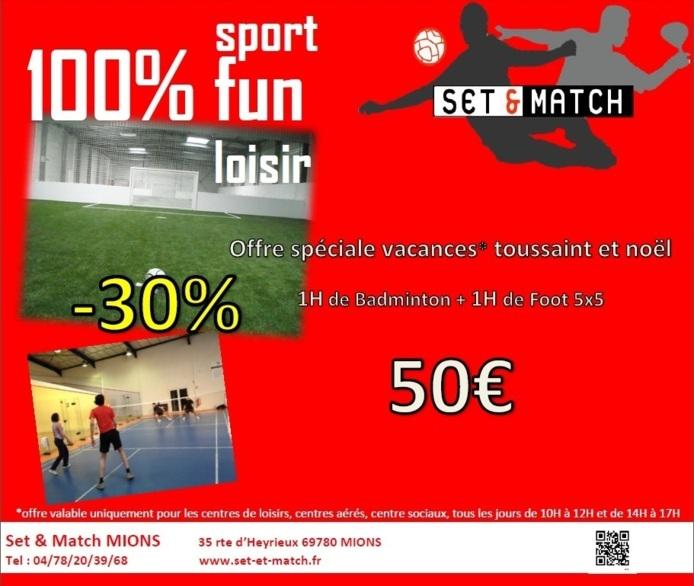 Du sport chez Set & Match