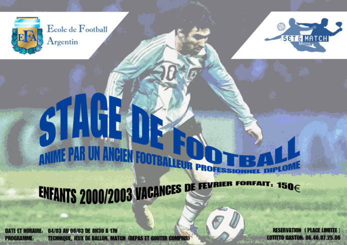 stage de foot enfants